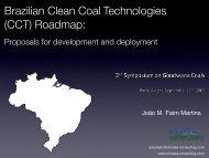 Brazilian Clean Coal Technologies (CCT) Roadmap: - pucrs