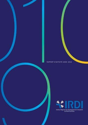 RAPPORT D'ACTIVITÉ 2009 - 2010 - IRDI