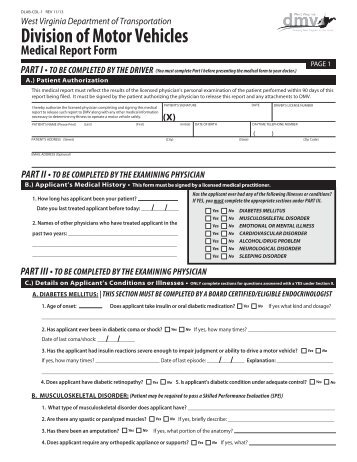 West virginia department of motor vehicles forms for Virginia motor vehicle department