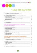 TABLE DES MATIERES - Conseil économique et social de la région ... - Page 3