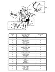 number part name-honda# qty needed 01 body assy., oil 15010-300 ...