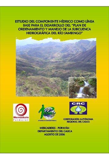 Hidrología - Corporación Autónoma Regional del Cauca