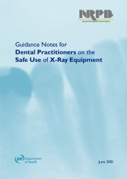 Guidance Notes for Dental Practitioners on the Safe Use of X-Ray ...
