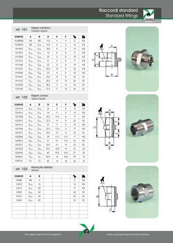 Raccordi standard Standard fittings - Pneumax