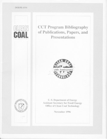 CCT Program Publications Bibliography - National Energy ...