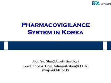 Pharmacovigilance system in Korea