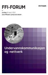240412 Undervannskommunikasjon og - Forsvarets forskningsinstitutt