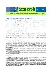 COMMENT ORGANISER LA CESSION DE VOTRE ... - CSMF
