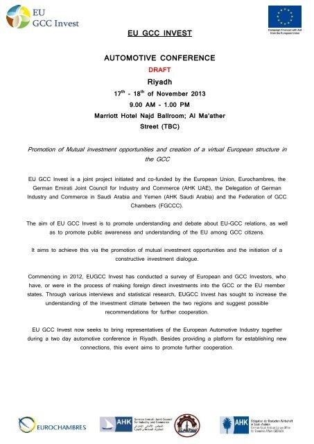 EU GCC INVEST AUTOMOTIVE CONFERENCE Riyadh