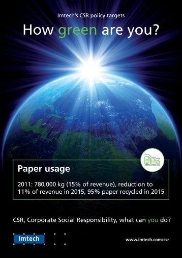 Paper usage - Imtech
