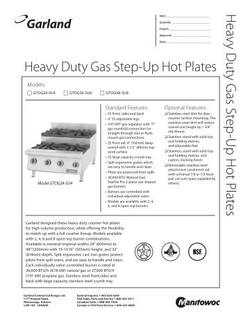 Garland Heavy Duty Gas Step-Up Hot Plates