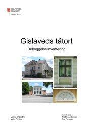 Bebyggelseinventering sid 1-23 - Gislaveds kommun