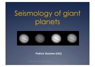 Seismology of giant planets