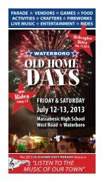 2013 Waterboro Old Home Days