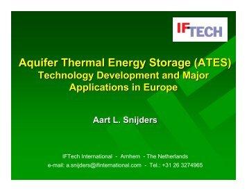 Aquifer Thermal Energy Storage (ATES)