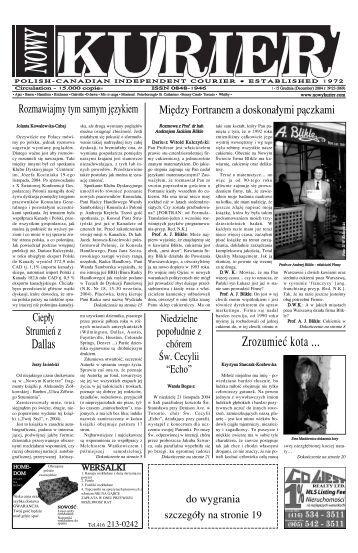 (December) 2004r. No 23 - Nowy Kurier