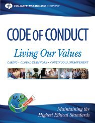 Living Our Values - Colgate