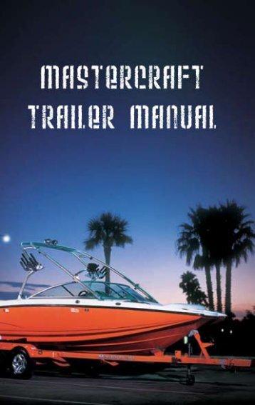 2007 Trailer Owner's Manual - MasterCraft