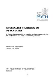specialist training in psychiatry - Royal College of Psychiatrists