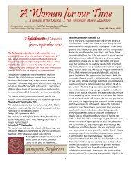 FCJ Marie Madeleine newsletter - St. John's International School