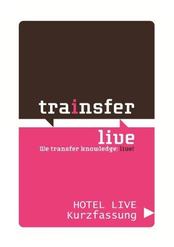 HOTEL LIVE Kurzfassung - Trainsfer Live!