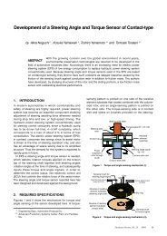 Development of a Steering Angle and Torque Sensor of Contact-type