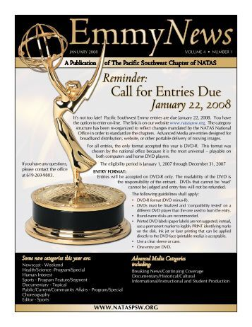 Call for Entries Due - National Academy of Television Arts and ...