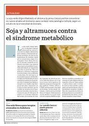Soja y altramuces contra el síndrome metabólico