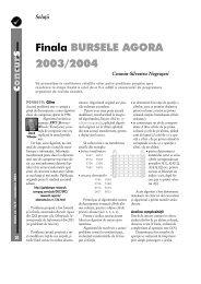 Finala BURSELE AGORA 2003/2004 - GInfo