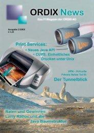 ORDIX News 2/2003 - ORDIX AG in