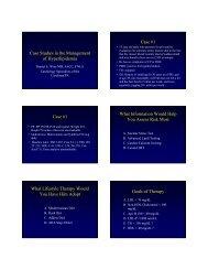 Case Studies in the Management of Hyperlipidemia Case #1 Case ...
