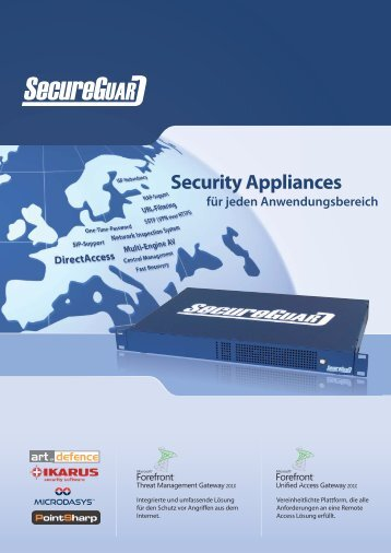 SecureGUARD Appliances