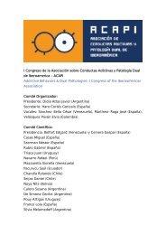 Martes 18 - Asociación Española de Patología Dual