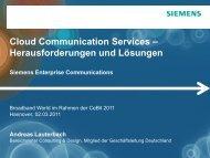 OpenScape Cloud Services - Broadband World