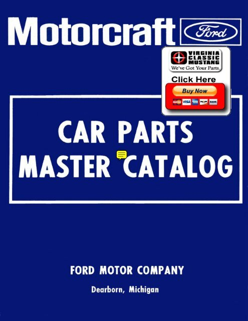 DEMO - 1973-79 Ford Car Master Parts and Accessories Catalog