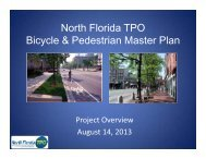 North Florida TPO Bike/Ped Master Plan Presentation - Jax2025