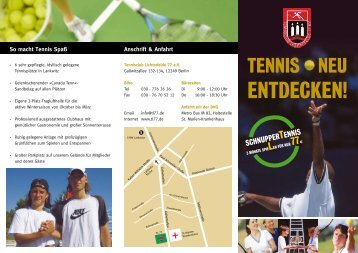 TL 77 flyer - Tennisclub Lichterfelde 77