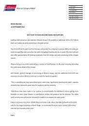 MEDIA RELEASE 10 SEPTEMBER 2012 SPLIT ... - Alliance Group