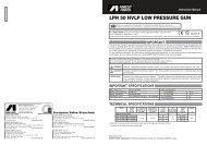 LPH 50 HVLP LOW PRESSURE GUN - Anest Iwata