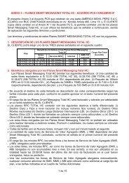 Anexo 3 - PLANES SMART MESSAGING TOTAL HC 15-07 ... - Claro