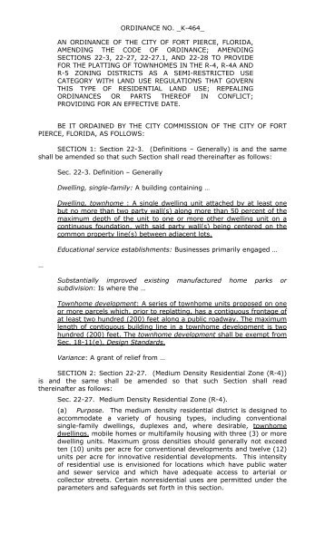 amending sections 22-3 - City of Fort Pierce