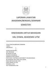 Borang Laporan TAPA 2012 - UiTM Johor