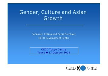 II) Gender, Culture and Asian Growth