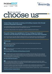 Why you should choose us - Bournville College