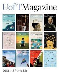 2012 –13 Media Kit - University of Toronto Magazine
