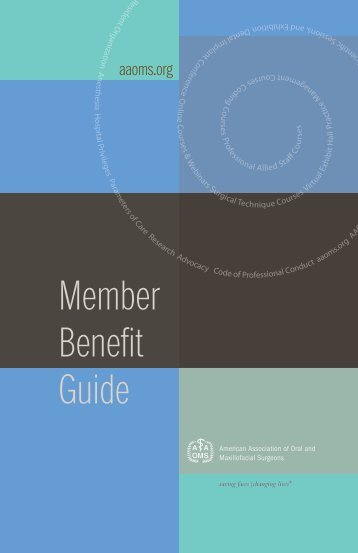 Member Benefit Guide - American Association of Oral and ...