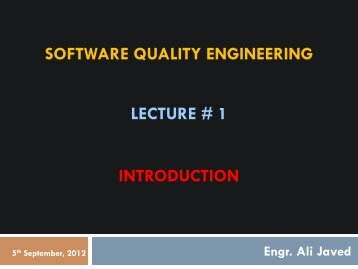 Engr. Ali Javed - University of Engineering and Technology, Taxila