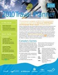 2010Travel Planner - Tourism Vancouver