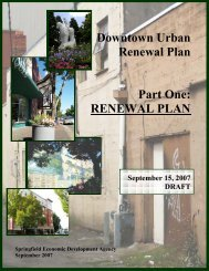 Draft Downtown Urban Renewal Plan - City of Springfield