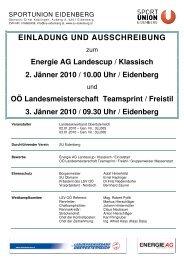 Ausschreibung LC und LM OÖ - Sportunion Eidenberg